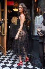 BELLA HADID Leaves Bowery Hotel in New York 06/07/2018