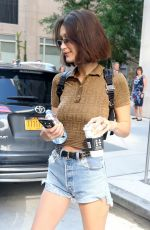 BELLA HADID Leaves Her Apartment in New York 06/25/2018