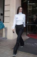 BELLA HADID Leaves Her Hotel in Paris 06/22/2018