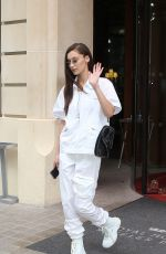 BELLA HADID Out and About in Paris 06/29/2018