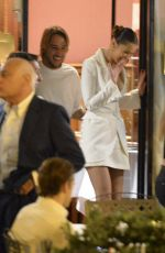 BELLA HADID Out for Dinner in Rome 06/27/2018