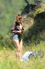 BLANCA BLANCO in Daisy Dukes Hiking at Lake Coeur D