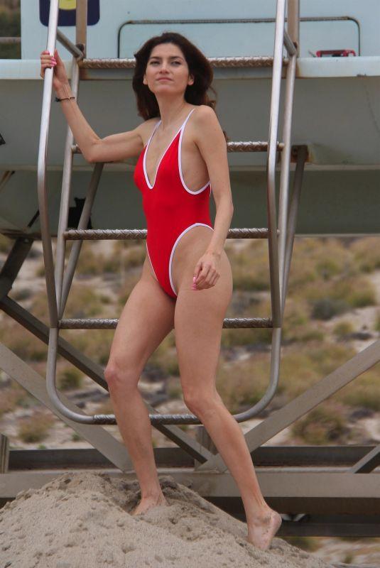 BLANCA BLANCO in Swimsuit at a Beach in Malibu 06/25/2018