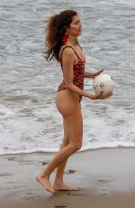 BLANCA BLANCO in Swimsuit Shows off Her Volleyball Skills 06/19/2018