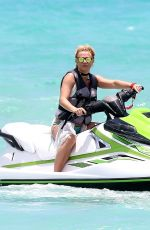 BRITNEY SPEARS Riding a Jetski in Miami 06/06/2018