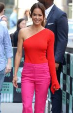 BROOKE BURKE Arrives at AOL Build in New York 06/11/2018