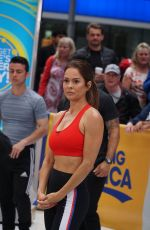 BROOKE BURKE Working Out at Good Morning America in New York 06/11/2018
