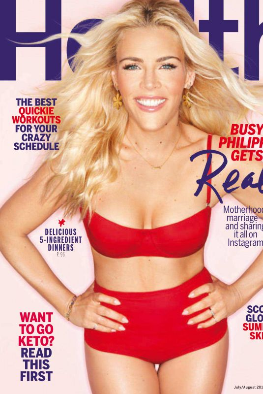 BUSY PHILIPPS in Health Magazine, July 2018 Issue