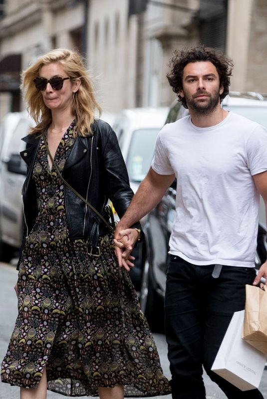 CAITLIN FITZGERALD and Aidan Turner at Le Colibri Restaurant in Paris 06/17/2018