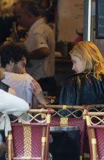 CAITLIN FITZGERALD and Aidan Turner at Le Colibri Restaurant in Paris 06/17/2018