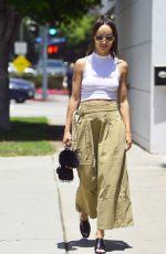 CARA SANTANA Arrives at Mare Salon in West Hollywood 06/14/2018