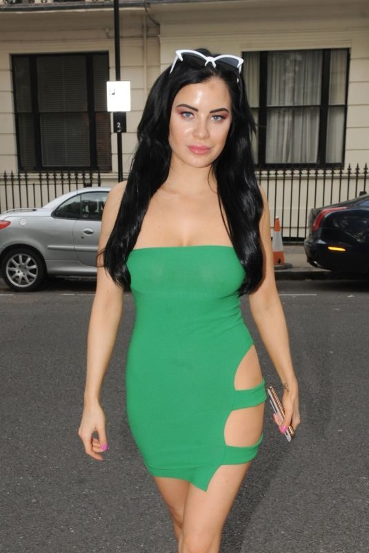 CARLA HOWE in Tight Dress Out in London 06/23/2018