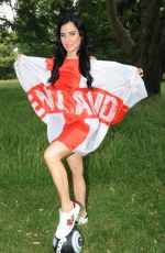 CARLA HOWE Shows Her Support for England at Fifa World Cup 06/18/2018