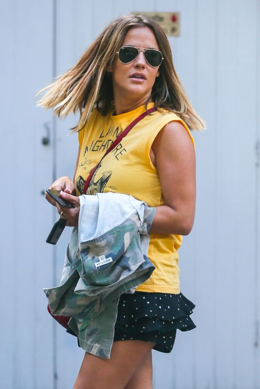 CAROLINE FLACK Leaves Her House in London 06/21/2018