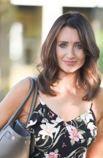 CATHERINE TYLDESLEY Leaves Terance Paul Salon in Manchester 06/27/2018