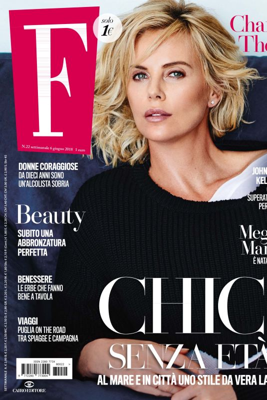 CHARLIZE THERON in F Magazine, June 2018 Issue