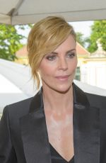 CHARLIZE THERON Receiving Swarovski Crystal of Hope Award in Vienna 05/31/2018