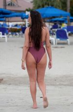 CHARLOTTE CROSBY in Swimsuit at a Beach in Saint Lucia 06/13/2018