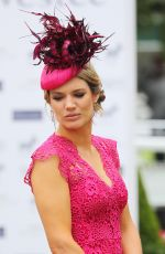 CHARLOTTE HAWKINS at Investec Derby Festival Ladies Day at Epsom Racecourse 06/01/2018