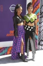 CHLOE and HALLE BAILEY at BET Awards in Los Angeles 06/24/2018