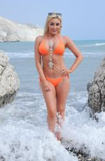 CHLOE CROWHURST in Bikni on the Set of a Photoshoot in Spain 04/20/2018