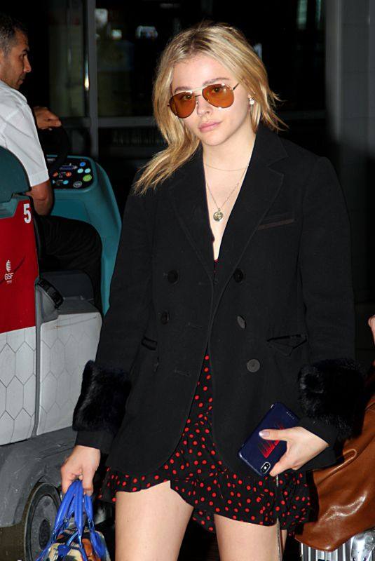 CHLOE MORETZ Arrives at Charles De Gaulle Airport in Paris 06/30/2018