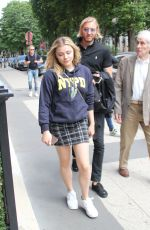 CHLOE MORETZ Out and About in Paris 06/17/2018