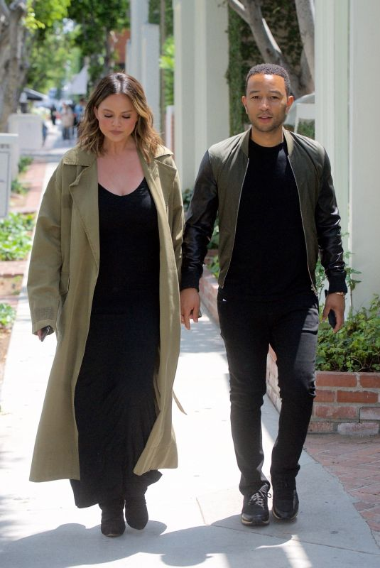 CHRISSY TEIGEN and John Legend Out in Los Angeles 05/31/2018