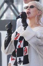CHRISTINA AGUILERA Performs at Today Show in New York 06/15/2018