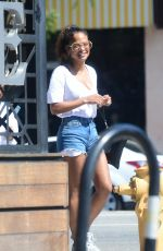 CHRISTINA MILIAN in Denim Shorts Out in Los Angeles 06/10/2018