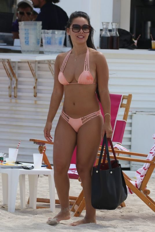 CINDY ALYN in Bikini at a Beach in Miami 06/12/2018