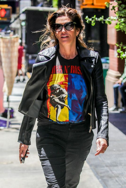 CINDY CRAWFORD Out and About in New York 06/14/2018