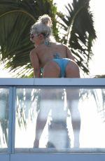 CJ LANA PERRY in Bikini on a Balcony in Miami 05/31/2018