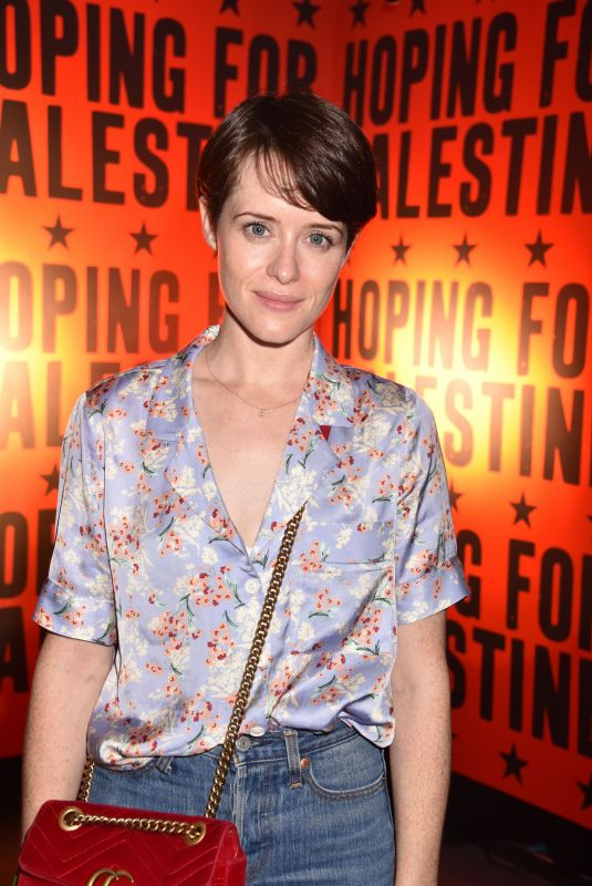 CLAIRE FOY at Hoping for Palestine 2018 in London 06/04/2018
