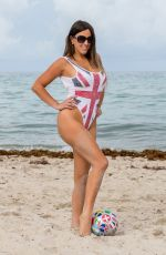 CLAUDIA ROMANI in Swimsuit Supporting England in Fifa World Cup 06/21/2018