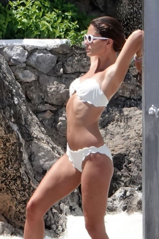 CORAL SIMANOVICH in Bikini at a Beach at Amalfi Coast 06/21/2018