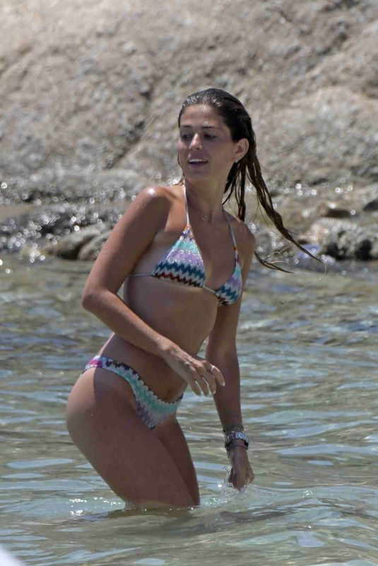 CORAL SIMANOVICH in Bikini at a Beach in Mykonos 06/26/2018