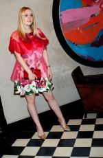 DAKOTA FANNING at Roger Vivier #lovevivier Book Launch Cocktail Party in New York 05/31/2018