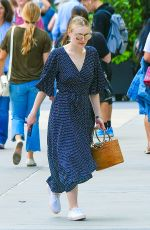 DAKOTA FANNING Out and About in New York 06/08/2018
