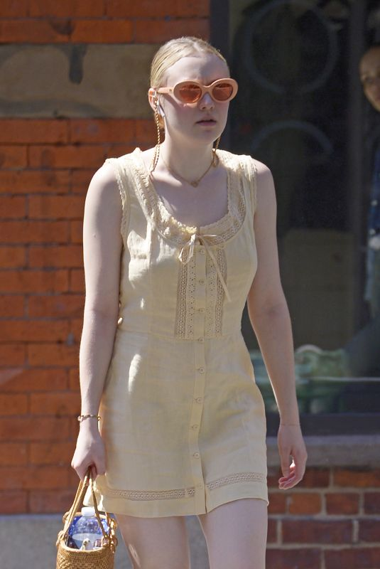 DAKOTA FANNING Out and About in New York 06/26/2018