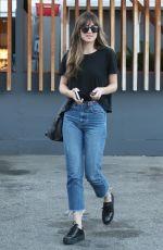 DAKOTA JOHNSON in Jeans Leaves Meche Salon in Beverly Hills 06/26/2018