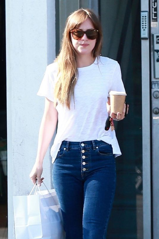 DAKOTA JOHNSON in Jeans Out Shopping in West Hollywood 06/06/2018