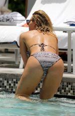 DANIELLE ARMSTRON in Bikini at a Pool in Miami 06/27/2018