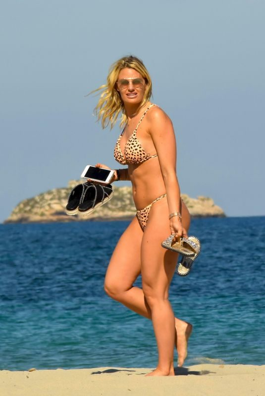 DANIELLE ARMSTRONG in Bikini at a Beach in Ibiza 06/15/2018