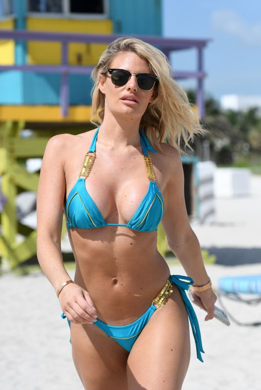 DANIELLE ARMSTRONG in Bikini on the Beach in Miami 06/29/2018