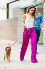 DANIELLE CAMPBELL Out with her Dog in New York 06/19/2018
