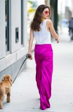 DANIELLE CAMPBELL Out with Her Dog in New York 06/26/2018