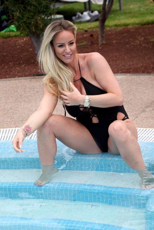 DANIELLE MASON in Swimsuits at a Pool in Spain 05/01/2018