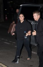 DEMI LOVATO Leaves Her Concert in Paris 06/04/2018