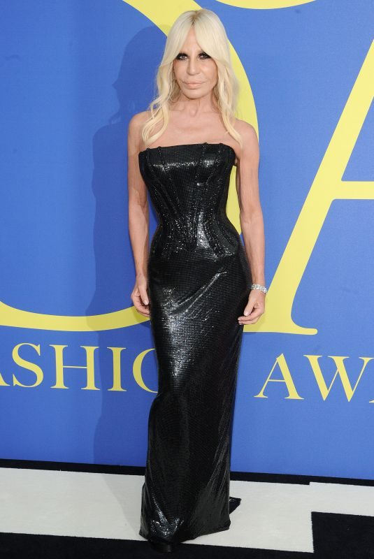 DONATELLA VERSACE at CFDA Fashion Awards in New York 06/05/2018